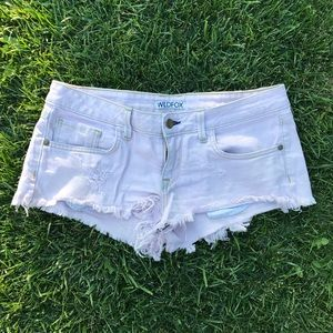 Wild fox cutoff shorts